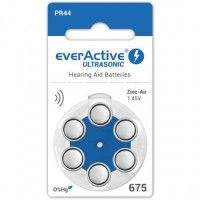 everActive Ultrasonic 675 / PR44 1.45V 0%Hg Zinc Air Hearing Aid batteries
