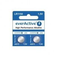 everActive LR1154 / LR44 / AG13 / G13 / A76 / PX76A / 76A / L1154 / KA76 / UL76A 1.5V 150mAh Alkaline baterija 2 gab.
