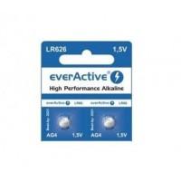 everActive LR626 / LR66 / AG4 / L626 / GA4 / G4 / 177 / 377A 1.5V 17mAh Alkaline baterija 2 gab.