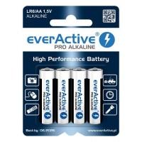 everActive Pro Alkaline AA LR6 1.5V 2900mAh baterijas 4 gab. blisterī 06.2027.