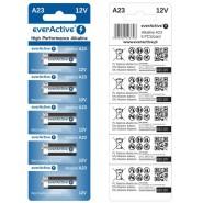 everActive A23 (23A/ V23GA / MN21)  12V Alkaline baterija 1gab.