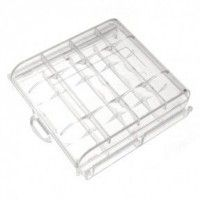 4x AA/AAA case, box for batteries, transparent