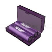 Efest H2 2x 18650 kastīte Li-Ion akumulatoriem (violeta)