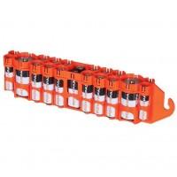 Storacell 19 x AA, AAA, 9V, C akumulatoru / bateriju kastīte (oranža)