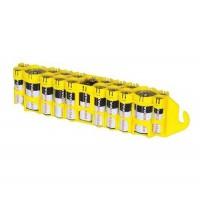 Storacell 19 x AA, AAA, 9V, C akumulatoru / bateriju kastīte (dzeltena)