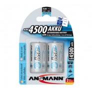 Ansmann C / HR14 / BABY Ni-MH 4500mAh 1.2V Low Self Discharge (LSD) akumulatori 2 gab.