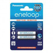 2x Panasonic Eneloop AAA 1.2V 800mAh 2100x BK-4MCCE/2DE rechargeable batteries for DECT phone 2 pc., blister