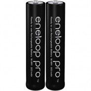 2x Panasonic Eneloop Pro AAA 950mAh 1.2V Ni-MH rechargeable batteries BK-4HCCE 500x, 2 pc.