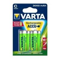 2x Varta C / R14 / HR14 3000mAh 1.2V Ni-MH rechargeable batteries, 2 pc., blister