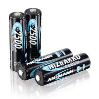 4x Ansmann AA 1500mAh 1.6V 2500mWh NiZn rechargeable batteries, 4 pc.
