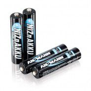 4x Ansmann AAA 550mAh 1.6V 900mWh NiZn rechargeable batteries, 4 pc.
