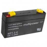 Multipower MP1.2-6 (6V 1.2Ah) (4.8mm) VRLA (Valve Regulated Lead-Acid) lead–acid battery with AGM (Absorbed Glass Mat) technology