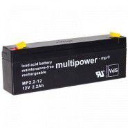 Multipower MP2.2-12 (12V 2.2Ah) (4.8mm) VRLA (Valve Regulated Lead-Acid) lead–acid battery with AGM (Absorbed Glass Mat) technology
