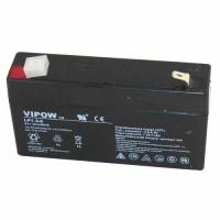 VIPOW LP1.3-6 (6V, 1.3Ah/20HR) VRLA (Valve Regulated Lead-Acid) Pb Svina akumulators ar AGM (Absorbed Glass Mat) tehnoloģiju