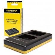 Patona 1971 divvietīgs ātrais USB foto akumulatoru lādētājs (Olympus Li-40B / Li-42B)
