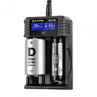 Xtar SV2 Rocket universal Li-Ion, Ni-MH, Ni-Cd 2-channel fast/gentle battery charger