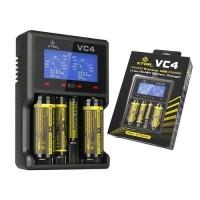 Xtar VC4 četrvietīgs universāls Li-Ion/Ni-MH akumulatoru lādētājs
