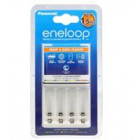 Panasonic Eneloop BQ-CC55E charger for 4x AA/AAA Ni-MH rechargeable batteries, white