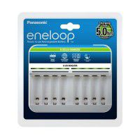 Panasonic Eneloop BQ-CC63E charger for 8x AA/AAA Ni-MH rechargeable batteries, white