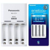 Panasonic Eneloop BQ-CC51E charger for 4x AA/AAA Ni-MH rechargeable batteries, white