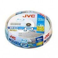 JVC BluRay BD-R Photo Printable 25GB 1-6x LHT Type cake box 10 gab.