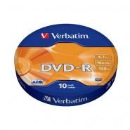 Verbatim DVD-R 4.7 GB 16x Matt Silver Azo Surface 10 gab.
