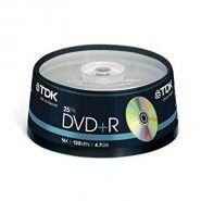 TDK DVD+R 4.7GB/120min 16x Matt Silver Recordable matricas 25 gab. cake box