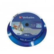 Verbatim BluRay BD-R Photo Printable 25GB 1-6x cake box 10 gab.