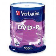 Verbatim DVD+R 4.7/120min GB 16x Matt Silver Azo Surface 100 gab. cake box