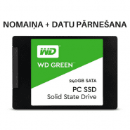"Western Digital Green 2.5"" / 7mm 240GB SATA SSD + replacement + data transfer"