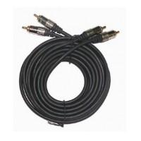Gembird 2x RCA Plug - 2x RCA Plug audio - video kabelis 1.8m (pelēks)