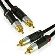 Hama 2x RCA Plug - 2x RCA Plug audio - video cable 5m (black)