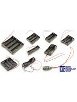 NTG jaunums: AA, 9V, 18650 baterijas / akumulatora turētājs ar pielodētiem vadiem 150mm