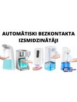 NTG jaunums: automātiski bezkontakta dezinfekcijas līdzekļu izsmidzinātāji rokām