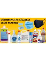 NTG piedāvā: profesionāli roku / virsmu dezinfekcijas līdzekļi un sejas maskas.