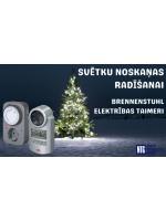 NTG piedāvā: Brennenstuhl DT IP44 V2, MZ 20-1 un MZ 44 DE elektrības taimeri svētku noskaņas radīšanai