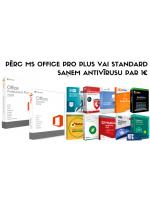 NTG piedāvā: pērc Microsoft Office Professional Plus vai Standard un saņem antivīrusu par 1€