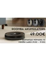 NTG piedāvā: Roomba akumulators + bezmaksas nomaiņa 10 minūšu laikā (9:00 - 17:00) par 49.00€