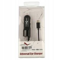 Extreme Style USB Type C + USB 3.1A 5V universāls ultra speed ātrais DC auto lādētājs