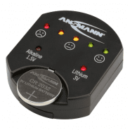 Ansmann Button cell battery tester for alkaline and lithium button batteries, 1900-0035
