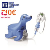 Philips Sami the Seal Compressor nebulizer system for kids