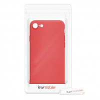 iPhone 7/8/SE (2020) silicone case for smartphone (neon red)
