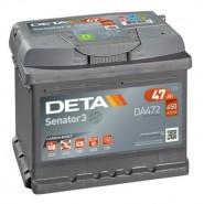 Deta Senator 3 automotive battery 12V 47Ah 450A, AK-DA472