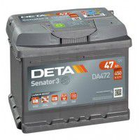 Deta Senator 3 automotive battery 12V 47Ah 450A, AK-DA472