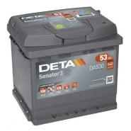 Deta Senator 3 automotive battery 12V 53Ah 540A, AK-DA530