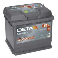 Deta Senator 3 automotive battery 12V 53Ah 540A, AK-DA530