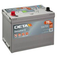 Deta Senator 3 automotive battery 12V 75Ah 630A, AK-DA755L