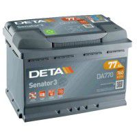 Deta Senator 3 automotive battery 12V 77Ah 760A, AK-DA770
