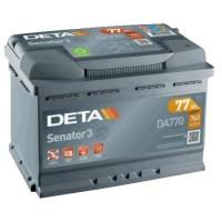 Deta Senator 3 automotive battery 12V 77Ah 760A, DA770