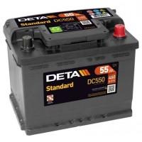Deta Standard automotive battery 12V 55Ah 460A, AK-DC550